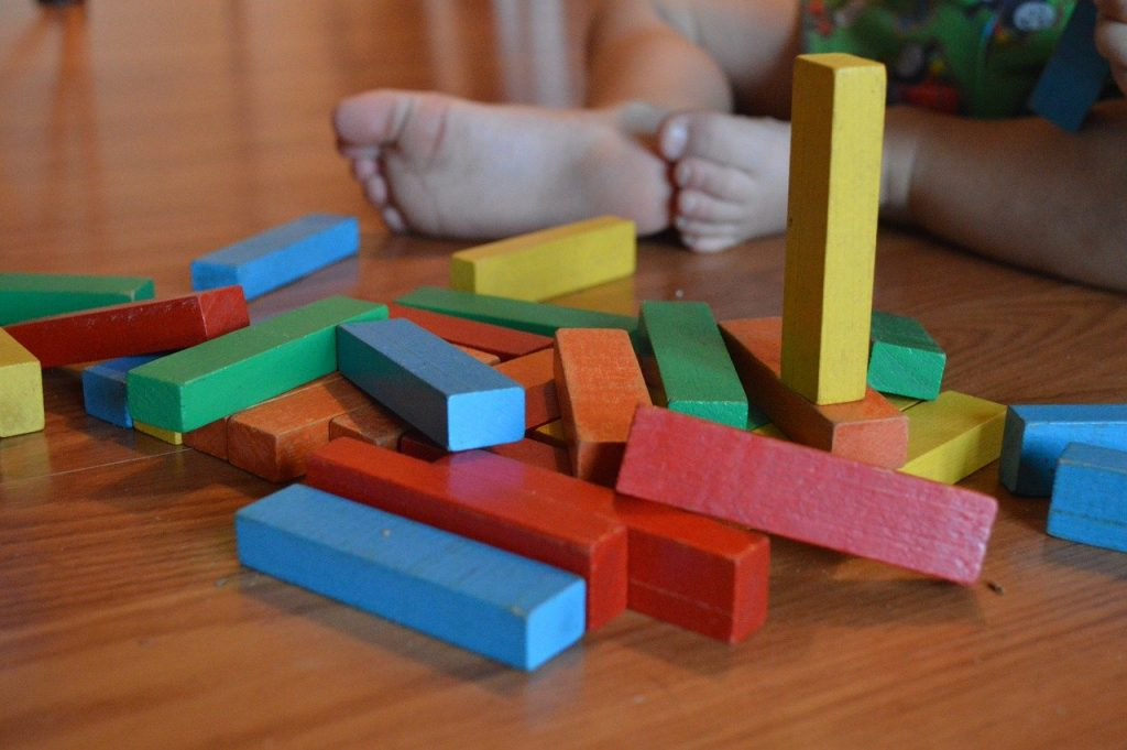 blocks, child, toy