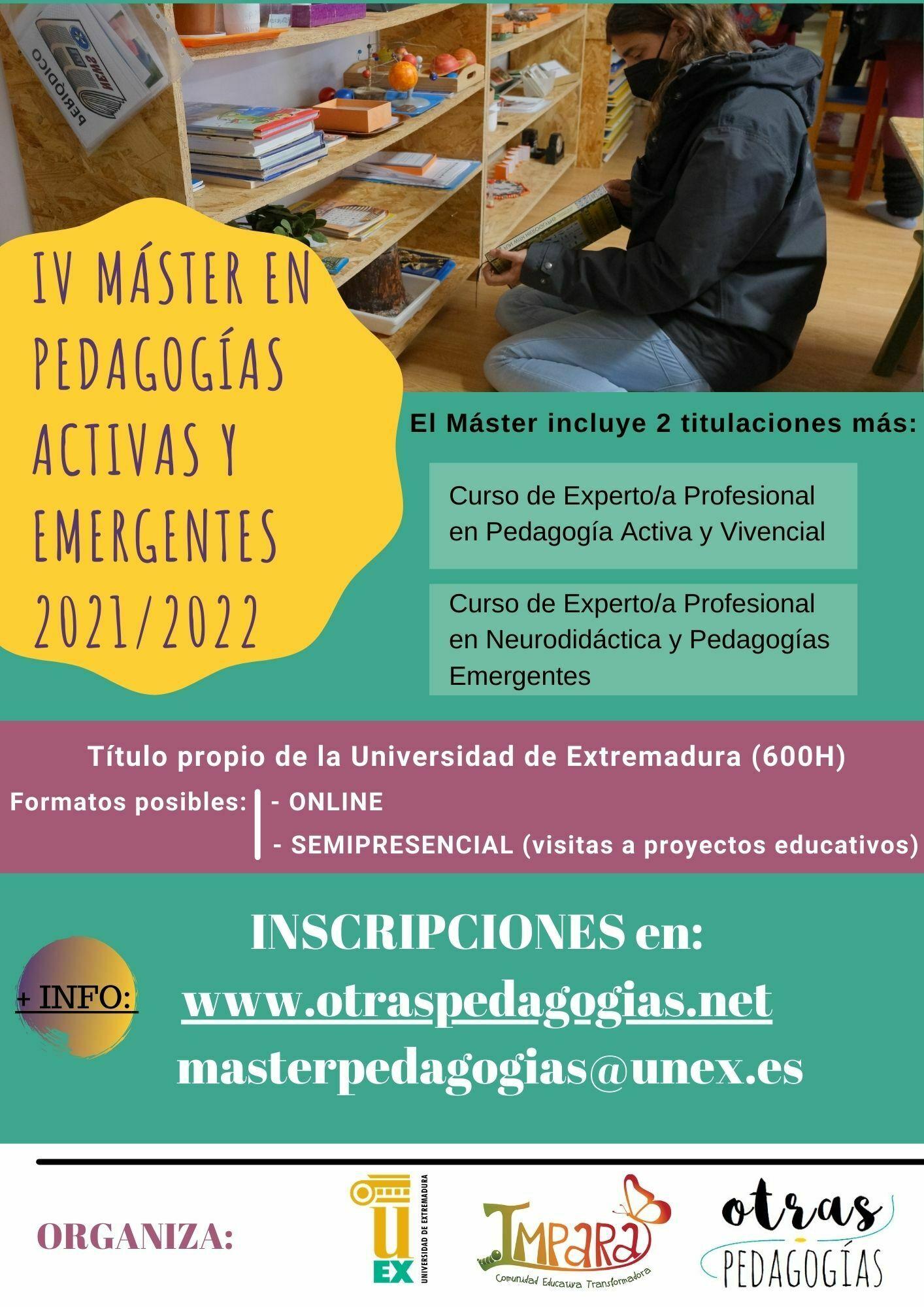 IV Máster en Pedagogías Activas y Emergentes 20202021 (2)